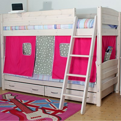 childrens bunk beds trendy-bunk-with-pink-and-grey-stars-play- ... PNQYHEF