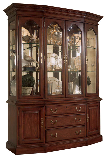 china cabinets american drew cherry grove canted china cabinet traditional-china-cabinets -and-hutches RHBUEGT