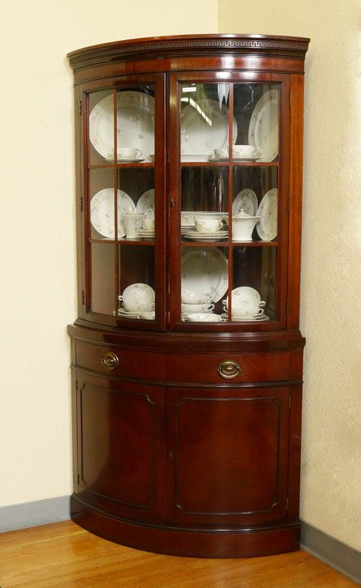 china cabinets corner china cabinet--great idea for window area near table--pair drexel IMZJOVV