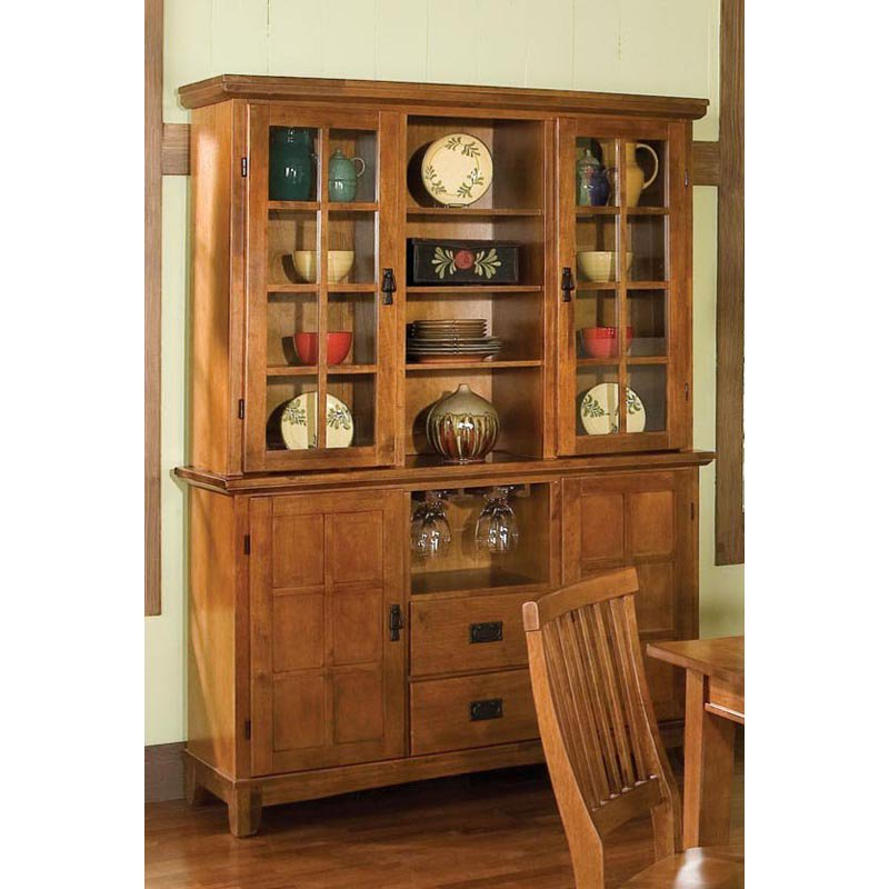 china cabinets home styles arts u0026 crafts china cabinet - cottage oak | hayneedle QQVDUEG