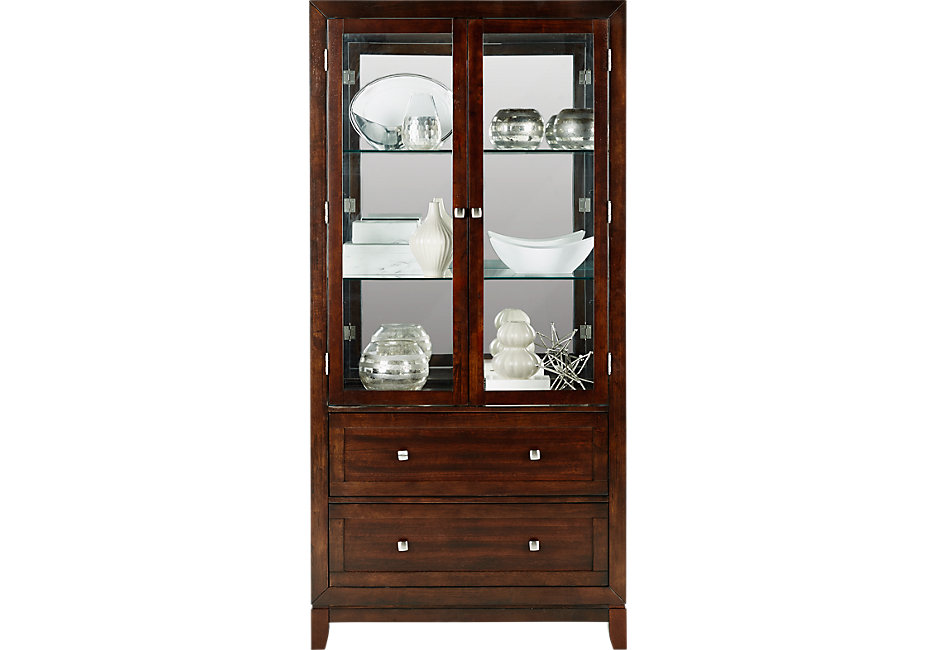 china cabinets riverdale cherry curio VHVMICW