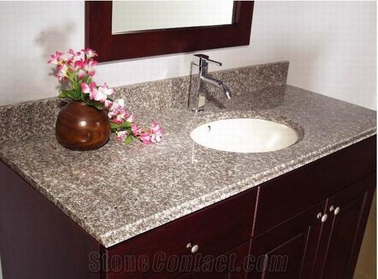 china g623 granite bathroom vanity tops, stone bathroom custom countertops  with GJZFVIA