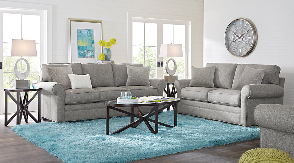 cindy crawford home bellingham gray 2 pc living room - living room sets HNZEKSU