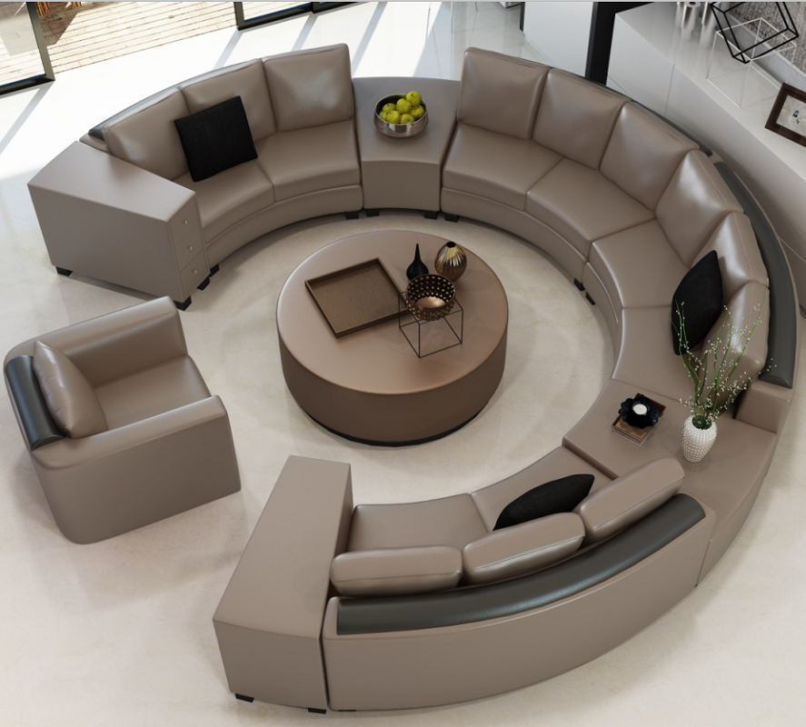 The amazing circular sofa goodworksfurniture Circular couches living room furniture