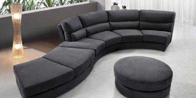 Circular Sofa Small Circle Lied For Modern Tiny Room Turkey Black Half Wllimqx