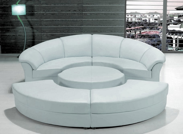 circular sofa stylish white leather circular sectional sofa modern-living-room DOXQUMX