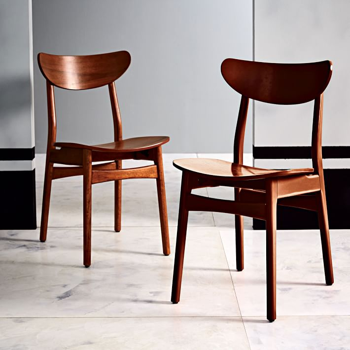 classic café dining chair - walnut | west elm RAJIZRP
