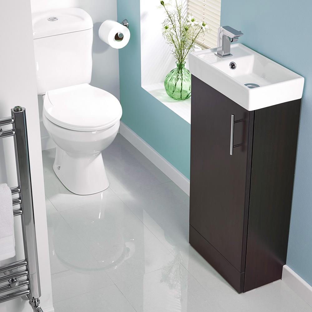 cloakroom suites ebony minimalist floor standing cloakroom suite - image 1 GIMRGZT