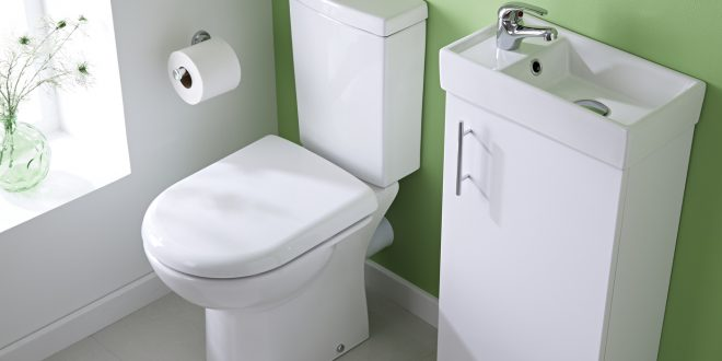 cloakroom suites white minimalist floor standing cloakroom suite - image 1 LTNOJDD