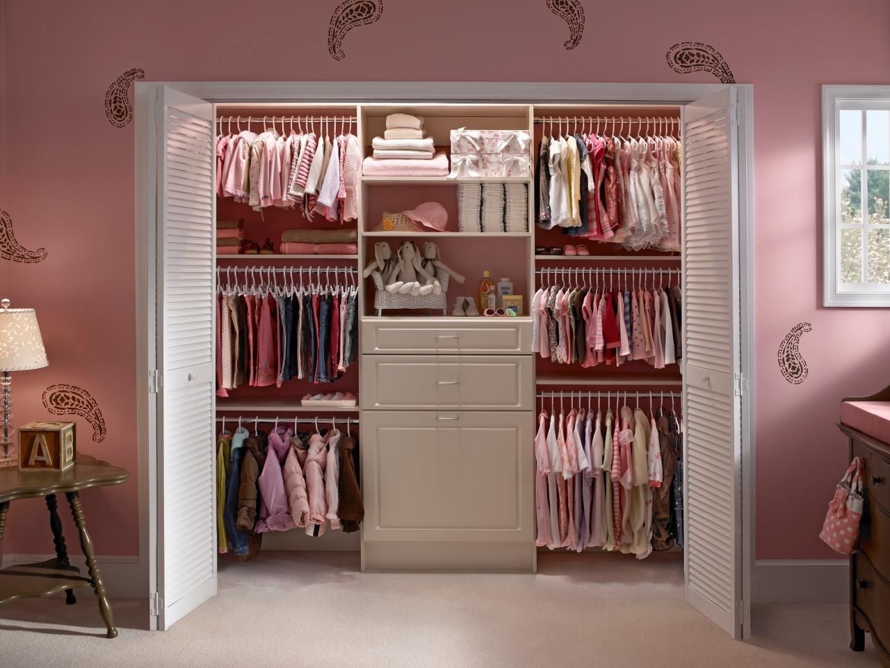 closet ideas bi-fold doors offer full access WPJFCDS