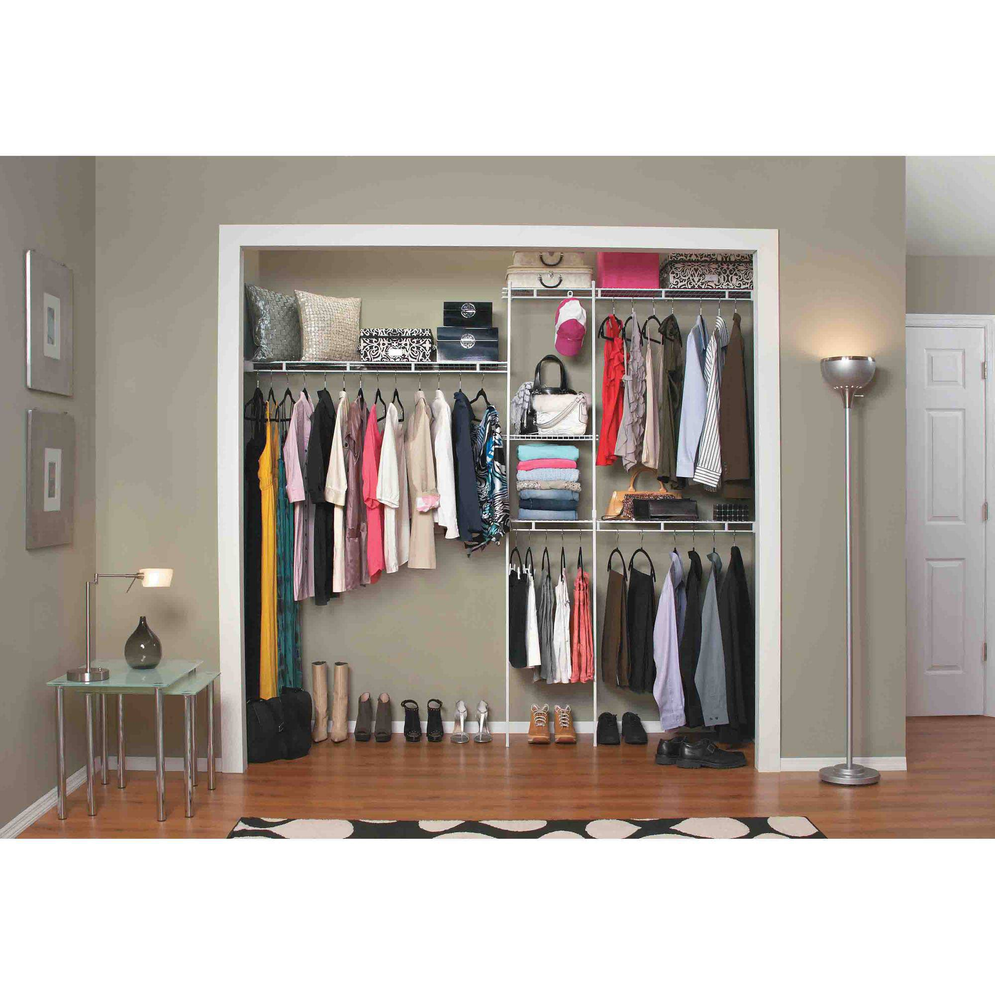 closetmaid closet organizer kit, 5u0027 to 8u0027 - walmart.com MQPVLFI