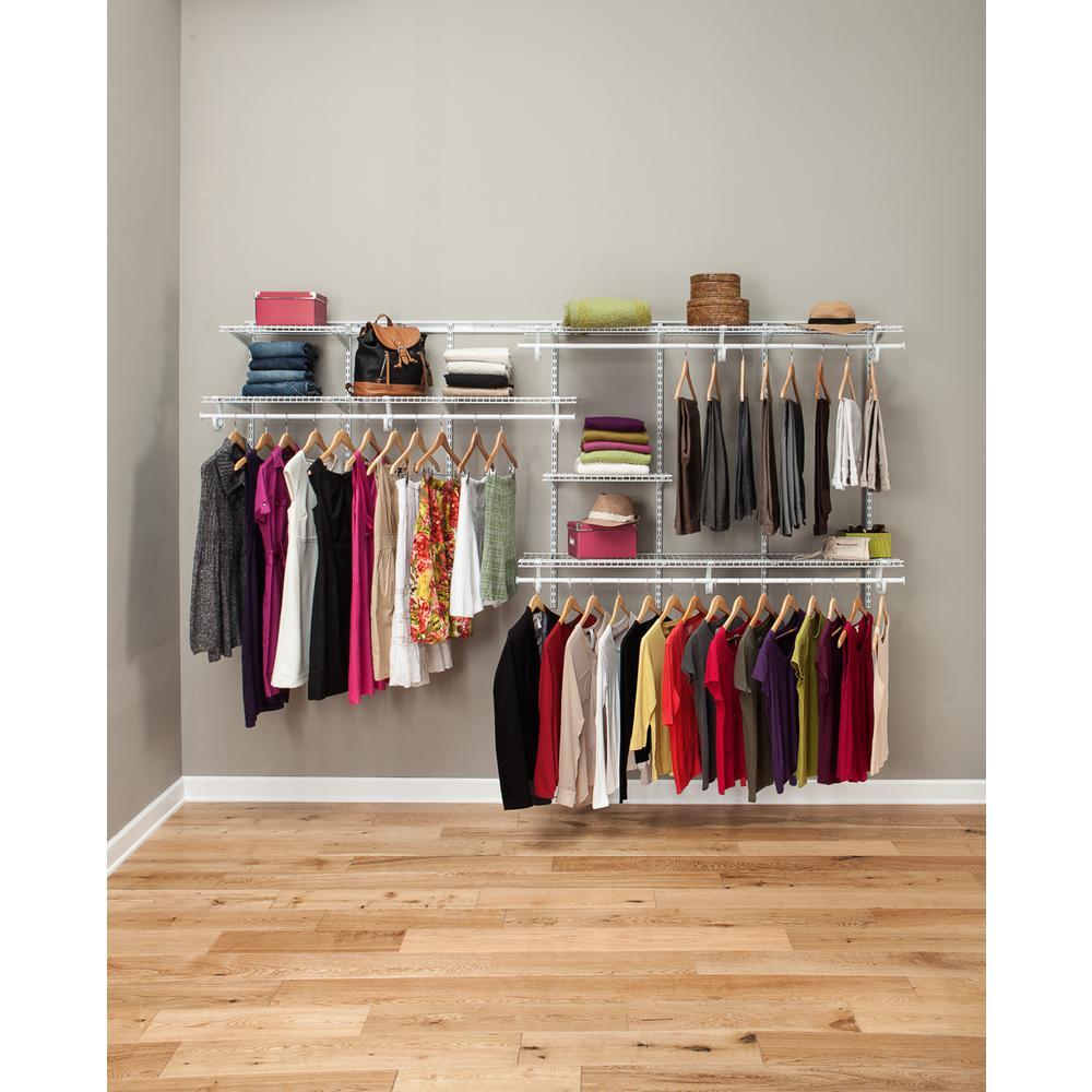 closetmaid shelftrack 7 ft. to 10 ft. white wire closet organizer kit DCNQSFK