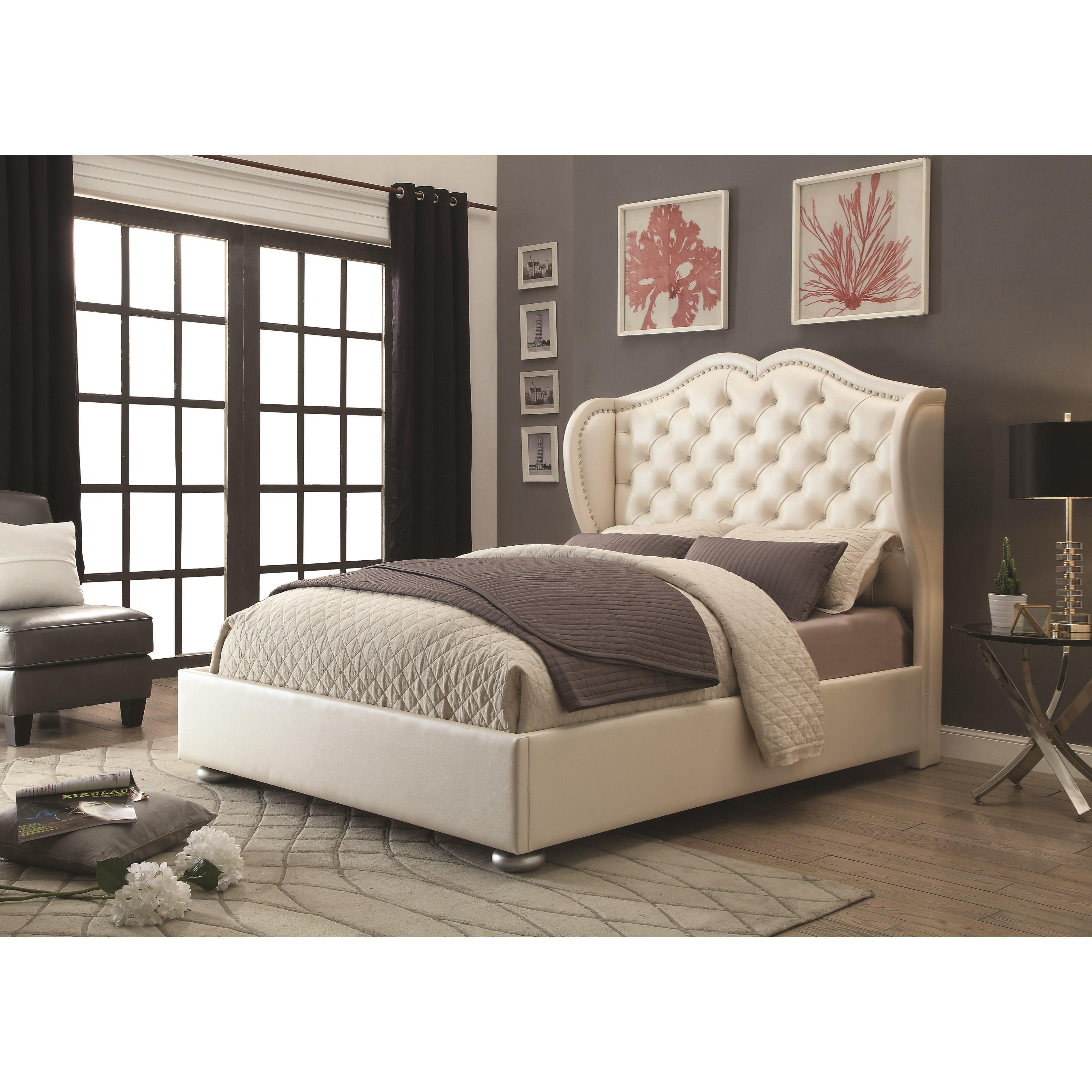 coaster upholstered beds queen bed - item number: 302011q UGDWETG