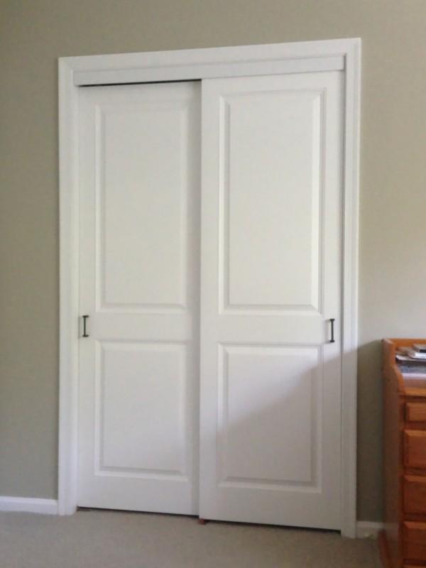 colonial raised panel sliding closet doors LQNJKAK
