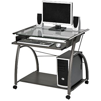 computer furniture acme 00118 vincent computer desk, silver JTQPIMO
