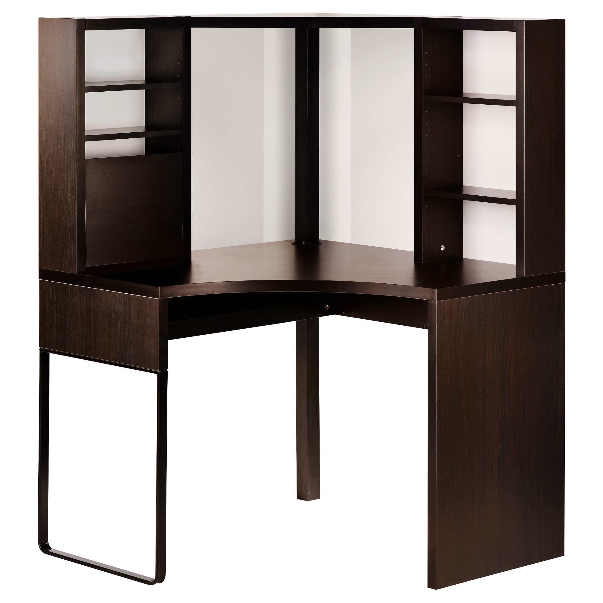 computer furniture micke corner workstation, black-brown max. width: 39 3/8  JNPHDLB