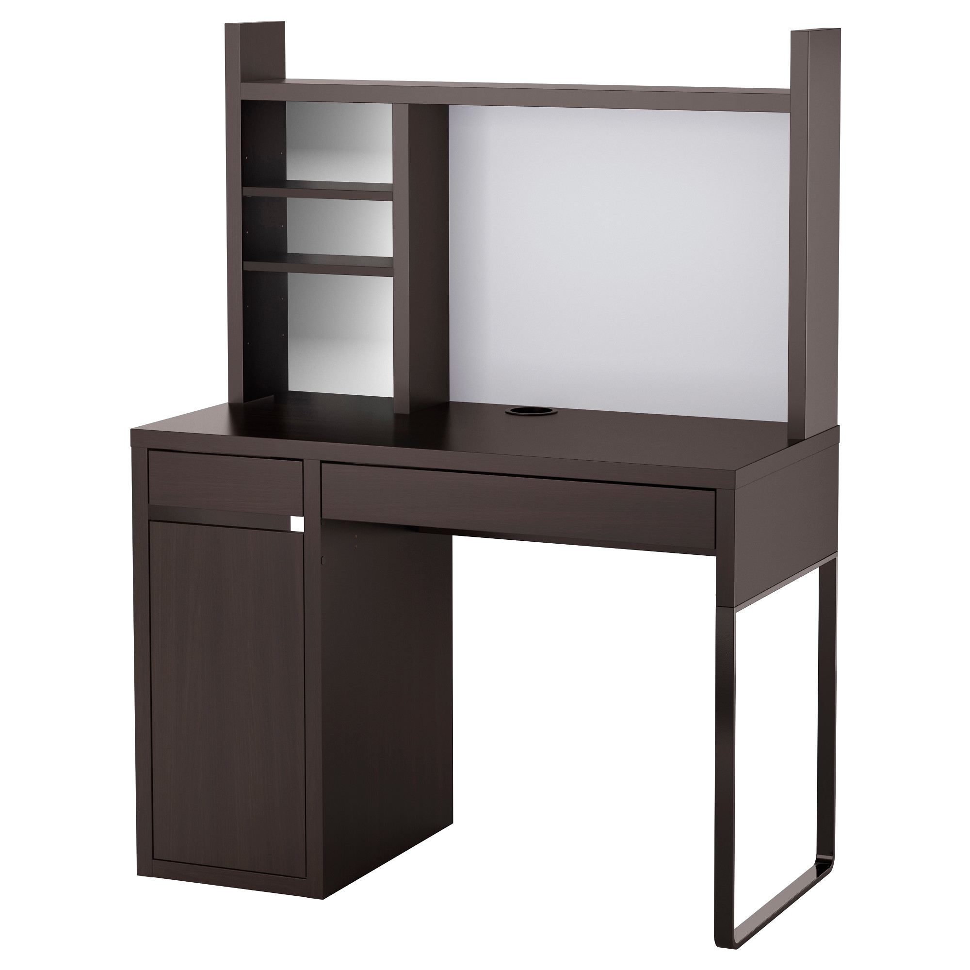 computer furniture micke work station, black-brown width: 41 3/8  MDDILHR