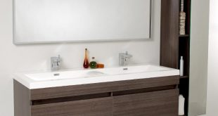 contemporary bathroom vanities 57u201d fresca largo (fvn8040go) gray oak modern bathroom vanity w/ wavy double GHZUTLN