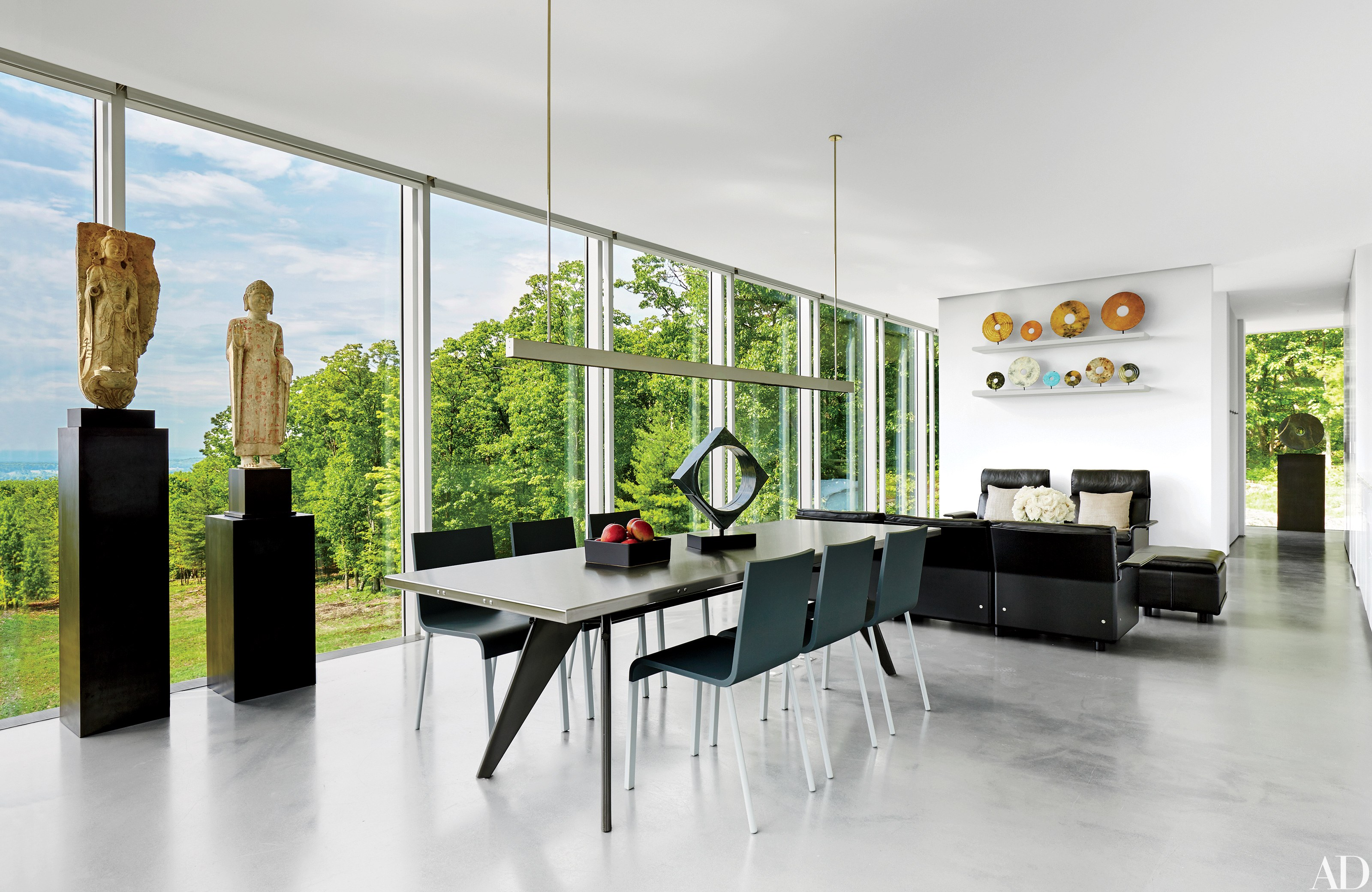 contemporary interior design: 13 striking and sleek rooms photos |  architectural digest KIGLZLV