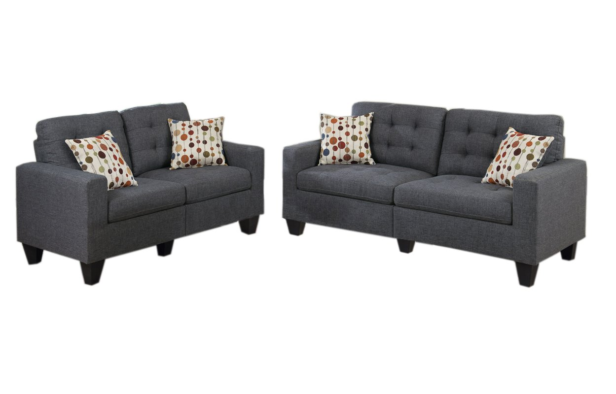 contemporary living room furniture amia 2 piece living room set XEGBMYY