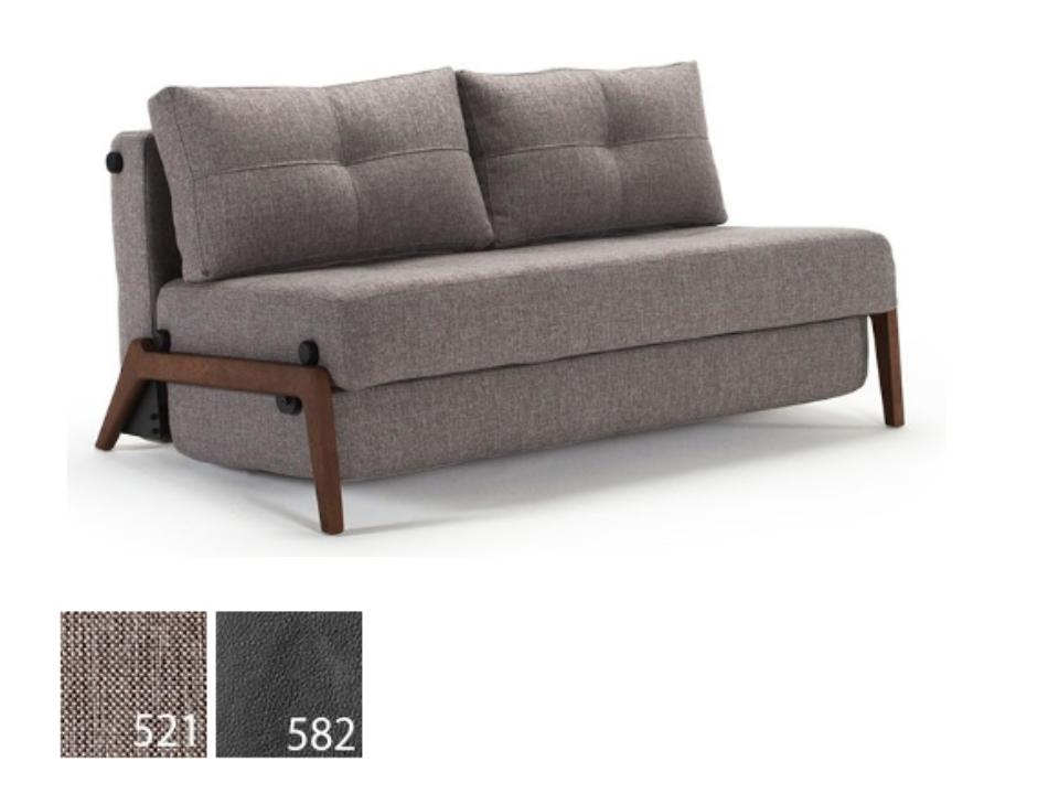 convertible sofa bed cubed loveseat sofa bed walnut by innovation living ODLWHIE