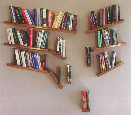 cool bookshelves and this deconstructed shelf thatu0027s just gorgeous chaos. cool  bookshelvesbookshelf ... NUGMSIF