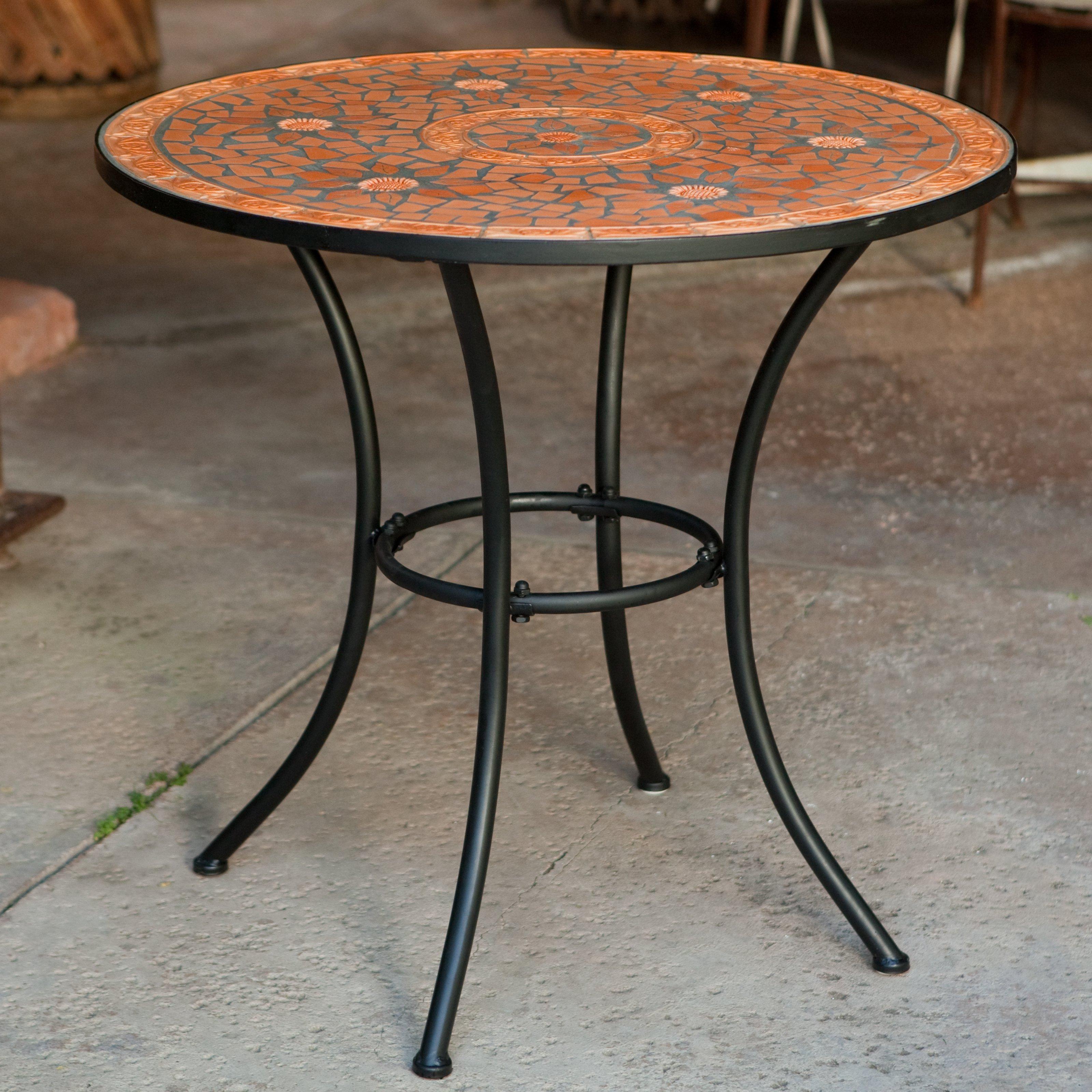coral coast terra cotta mosaic bistro table | hayneedle PIWLNKH