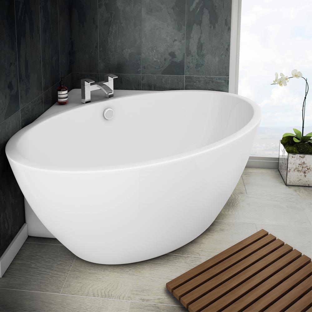 corner baths orbit corner modern free standing bath (1270 x 1270mm) medium image QPRPYSJ