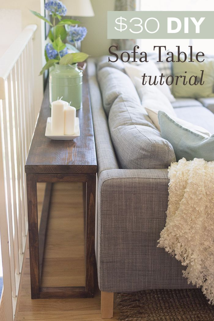 couch table $30 diy sofa/console table tutorial TITVPUS