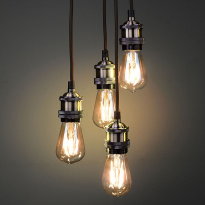 create stunning vintage lighting effects with this antique brass quad  pendant with EITJOED