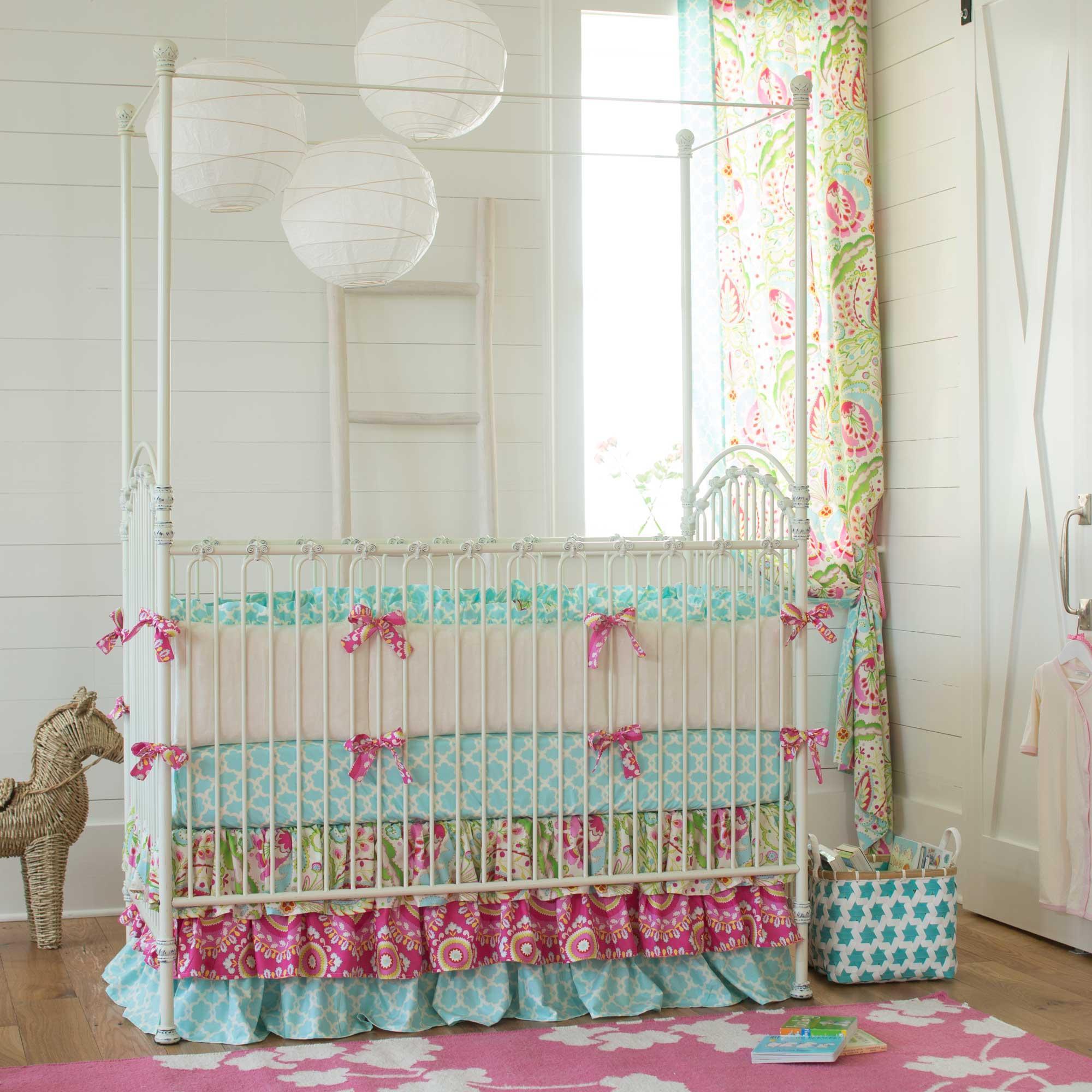 crib bedding for girls ... kumari garden crib bedding WTQGNBZ