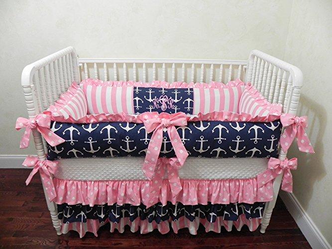 crib bedding for girls nursery bedding, baby bedding set tori, girl crib bedding, nautical baby  bedding, LKTMFQD