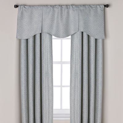 curtain valances captiva pleated window curtain valance in blue RWAEAQJ