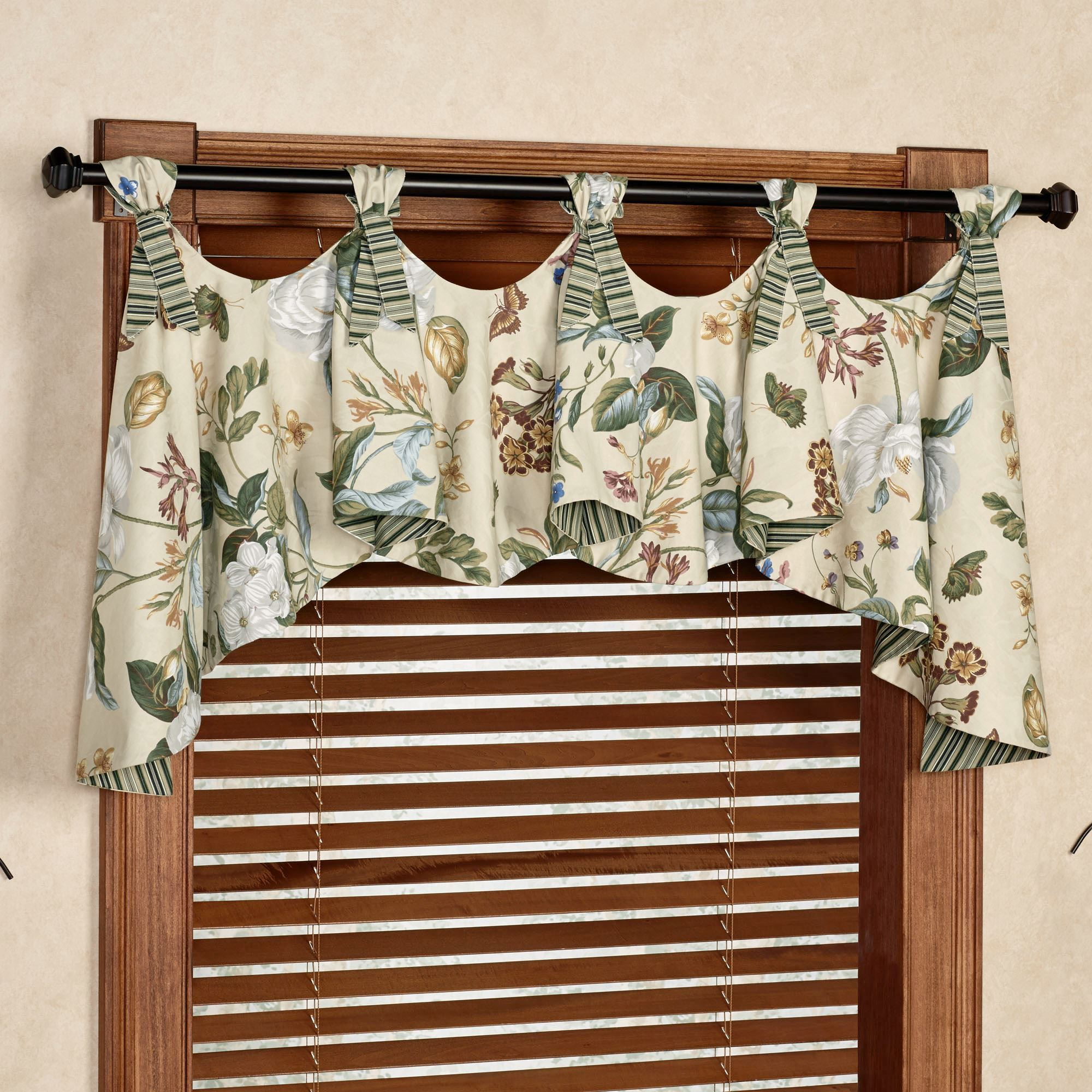 curtain valances garden images iii austrian valance parchment 64 x 28 VEWEOHQ