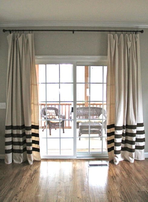 curtains for sliding glass doors 12 projects for fabulous diy drapes u0026 curtains UACWFEJ