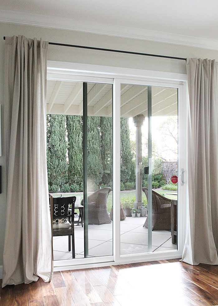 curtains for sliding glass doors curtain rods from galvanized pipes without the industrial look TECNPLY