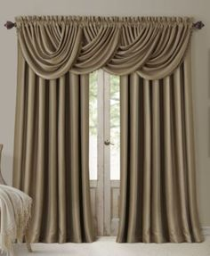 curtains with valance complete the look of your elrene all seasons window panel collection window UZYWVUT