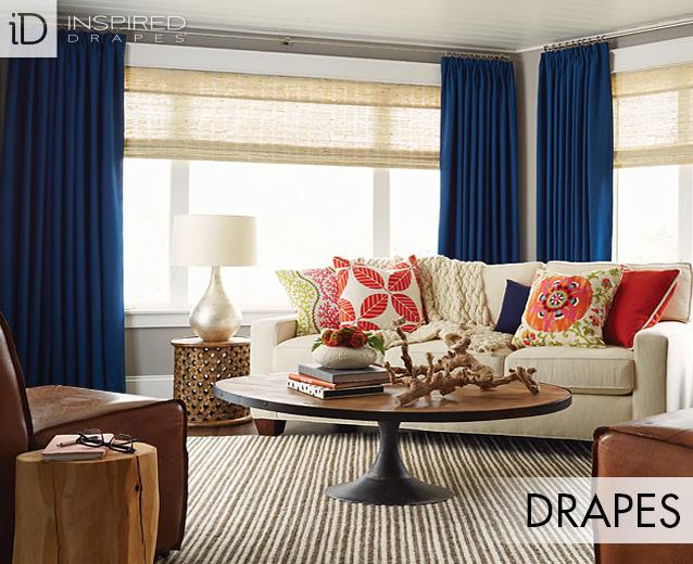 custom drapes custom curtains and drapes | budget blinds LJWLUEG