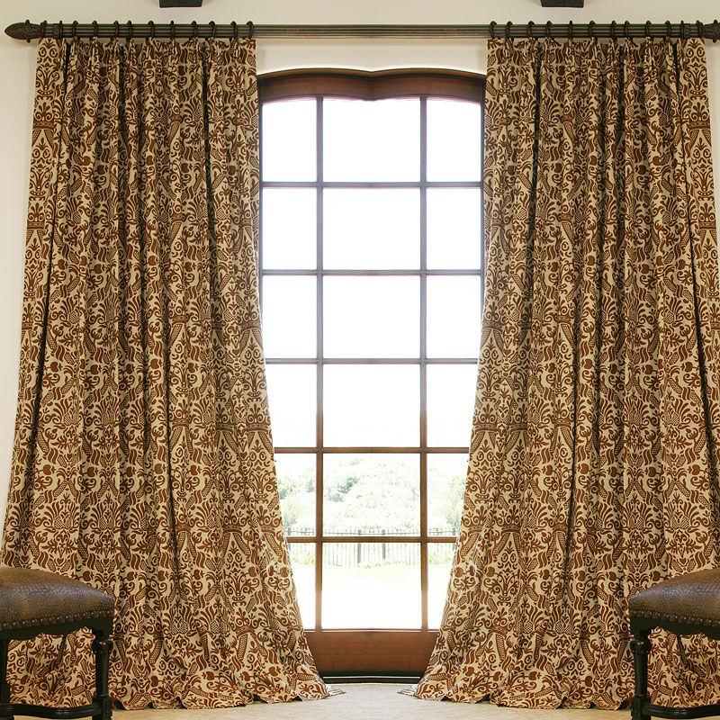 custom drapes napa chocolate custom linen drapery with parisian pleat ... RGZGTKN