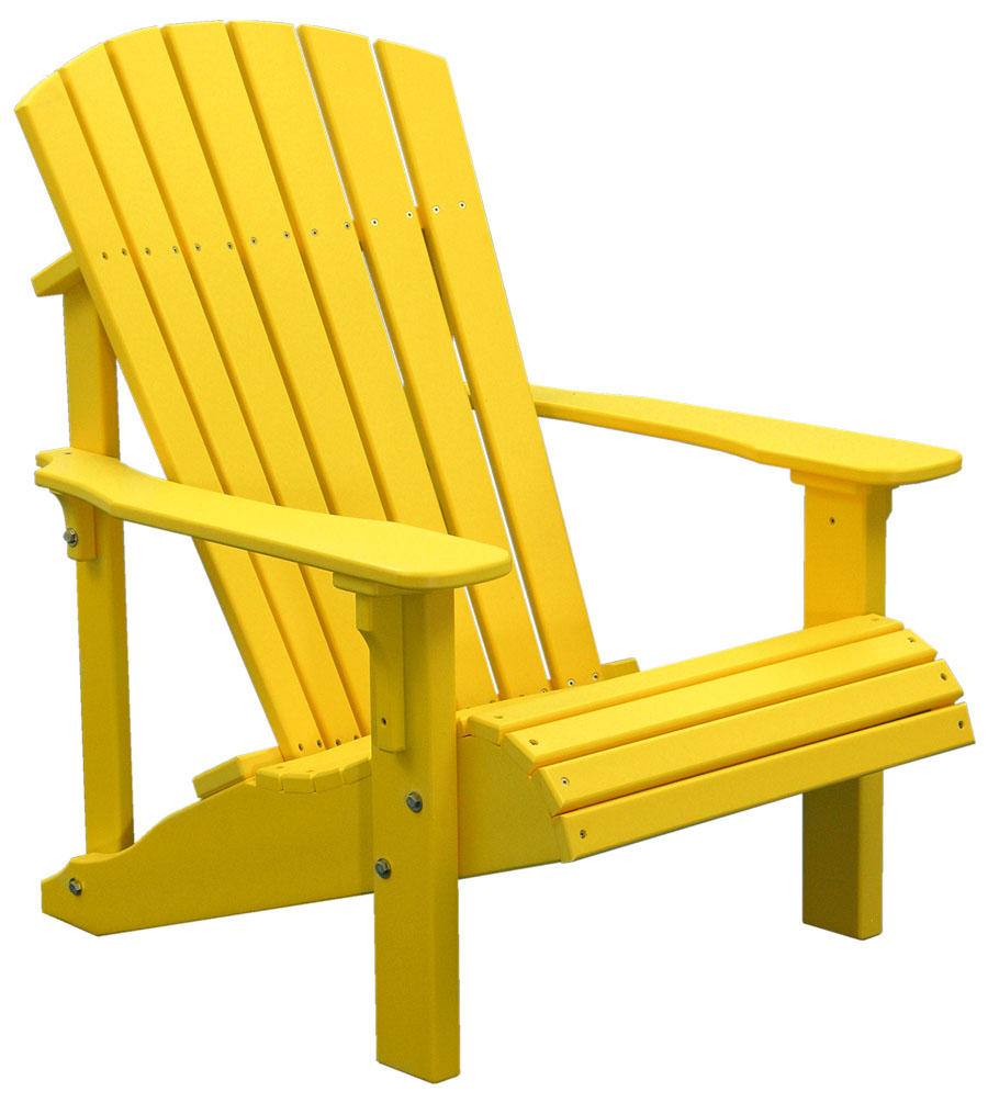 deck chairs deluxe-adirondack-chair-yellow COJHALY