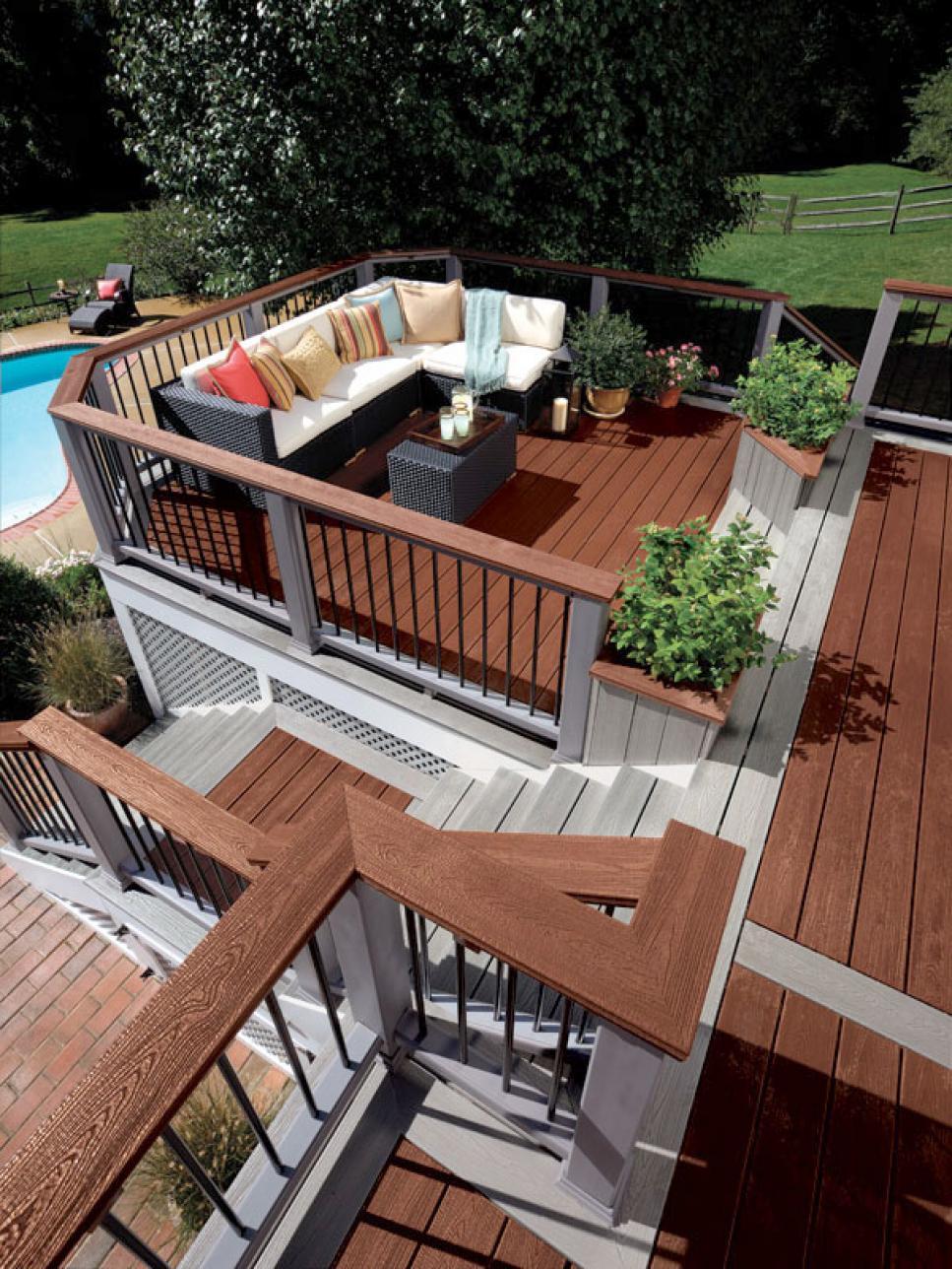 deck designs deck design ideas | hgtv RXPHFOX