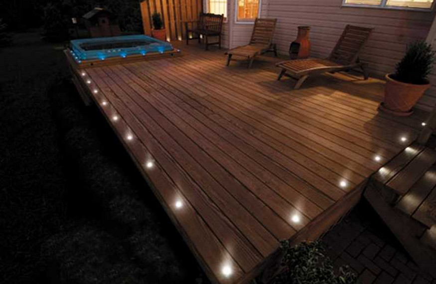 decking lights flush mount solar deck lights DAZJMCT