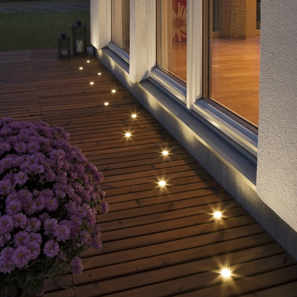 decking lights ... lighting · konstsmide mini led ground spots in decking NWNBYNG