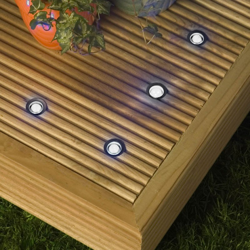 decking lights robus garland smd cool white led walkover lights - set of 10 TDZFPHB