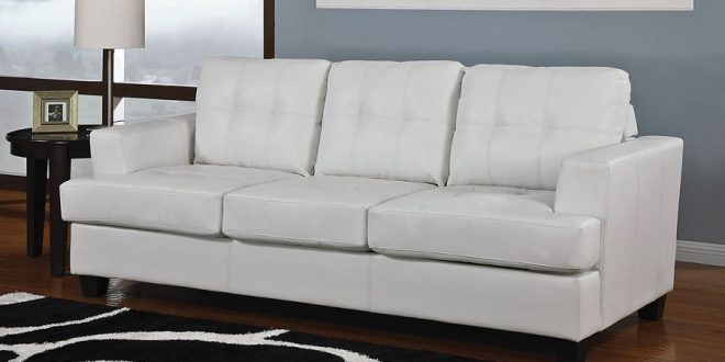 diamond white leather sofa bed LDIPJIK
