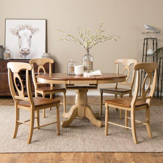 dinette sets vintage beach pedestal table dining collection 5pc oval set: table u0026 4 side TNBDOZE