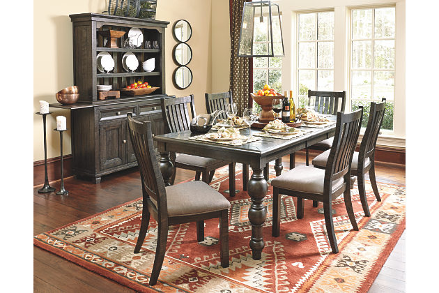 dining room furniture rectangle kitchen table and dining room chairs with beautiful buffet and  open RBCHLMQ