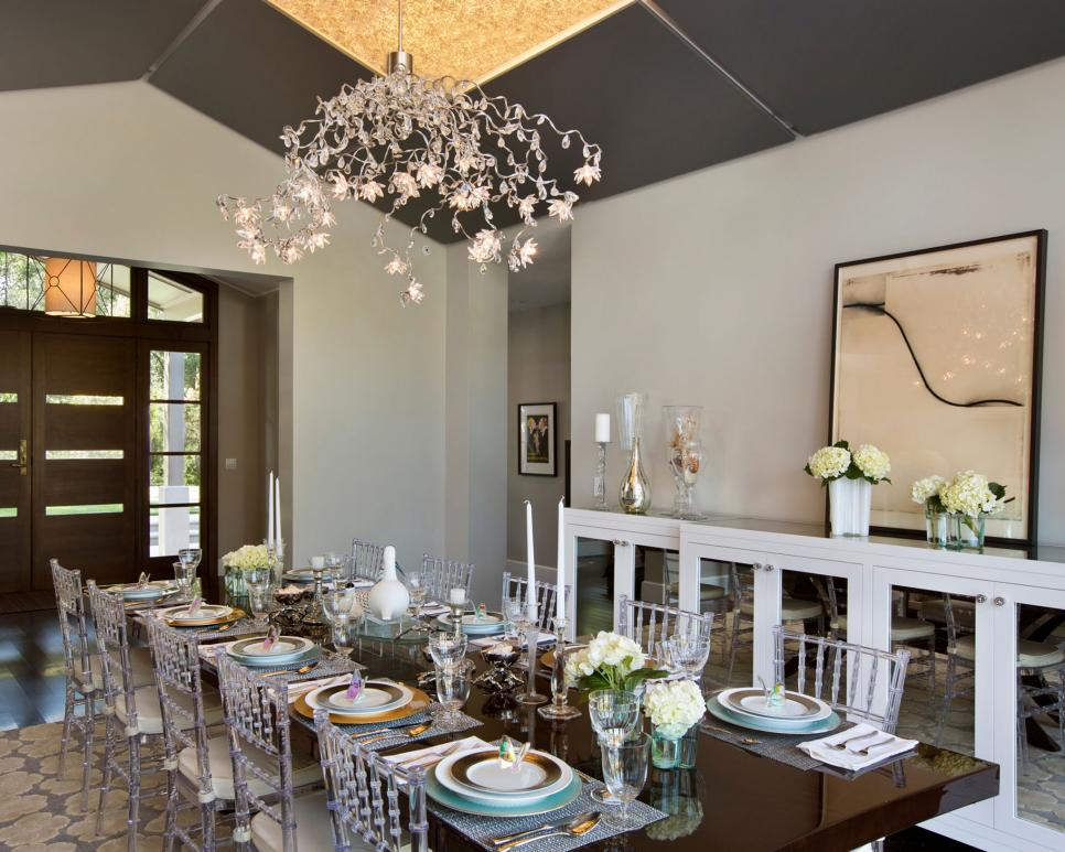 dining room lights dining room lighting designs | hgtv ONHGMTT