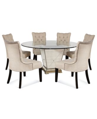 dining table and chairs marais dining room furniture, 7 piece set (60 UHLLDFN