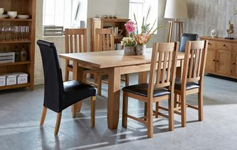 dining table and chairs parker extending dining table u0026 set of 4 slat back chairs parker oak GAGLZSY
